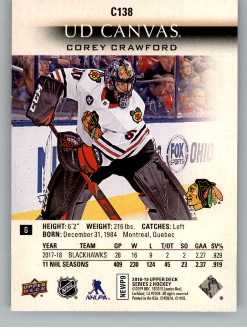 2018-19-Upper-Deck-Series-2-Canvas-Young-Guns-Rookie-RC-Hockey-Cards-You-Pick miniature 5