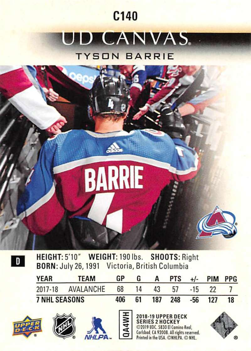 2018-19-Upper-Deck-CANVAS-Hockey-Series-1-amp-2-Vets-Young-Guns-RC-Pick-Yer-Cards miniature 181