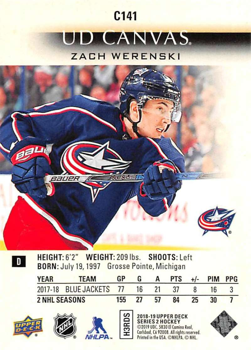 2018-19-Upper-Deck-CANVAS-Hockey-Series-1-amp-2-Vets-Young-Guns-RC-Pick-Yer-Cards miniature 183