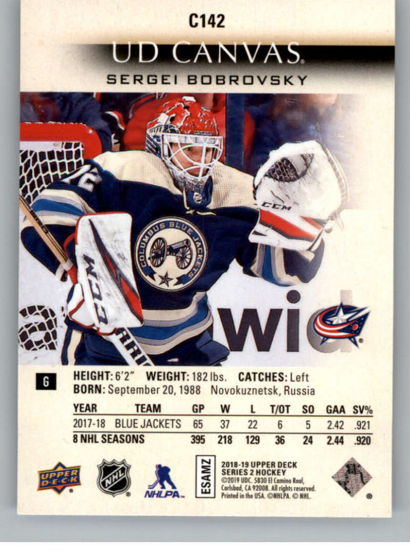 2018-19-Upper-Deck-CANVAS-Hockey-Series-1-amp-2-Vets-Young-Guns-RC-Pick-Yer-Cards miniature 185