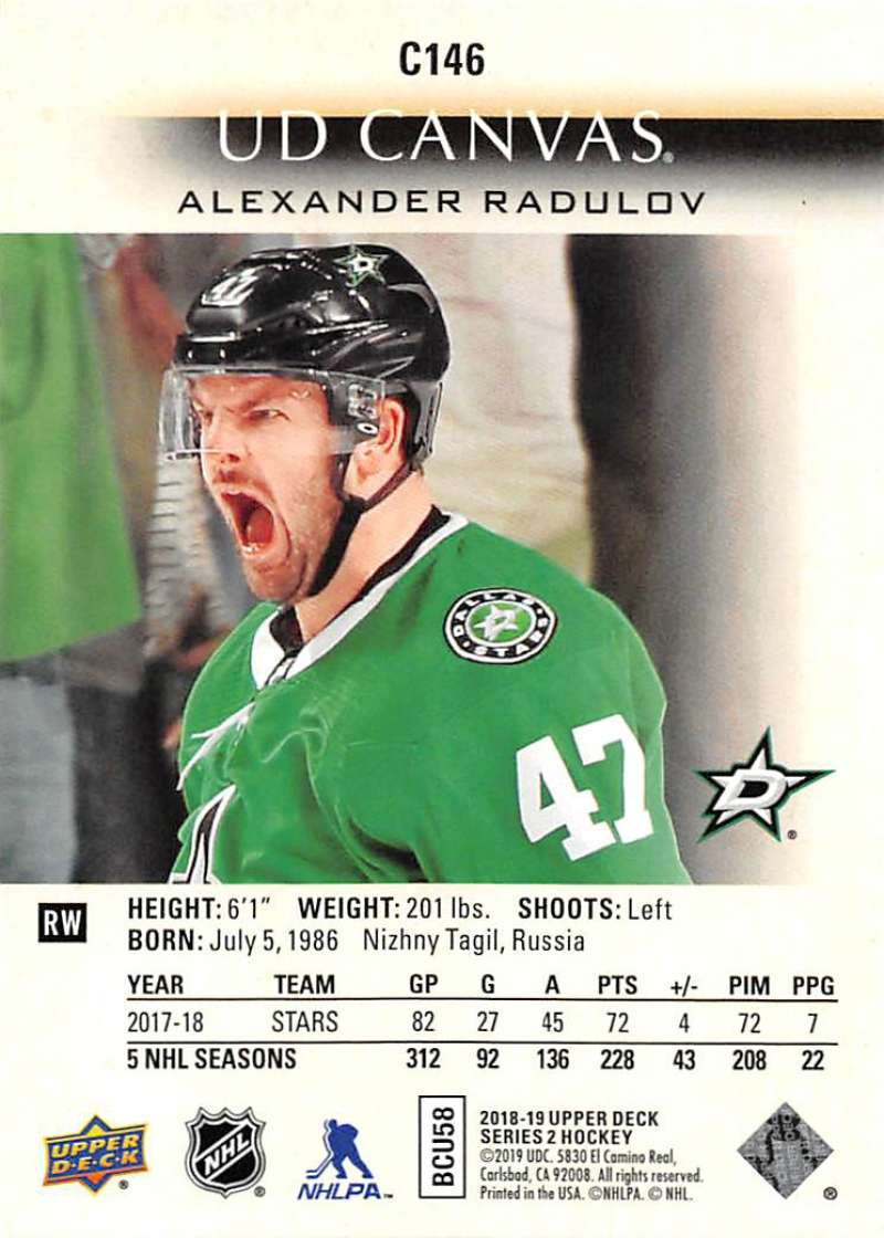 2018-19-Upper-Deck-CANVAS-Hockey-Series-1-amp-2-Vets-Young-Guns-RC-Pick-Yer-Cards miniature 193