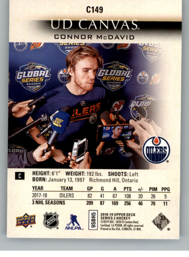 2018-19-Upper-Deck-CANVAS-Hockey-Series-1-amp-2-Vets-Young-Guns-RC-Pick-Yer-Cards miniature 197