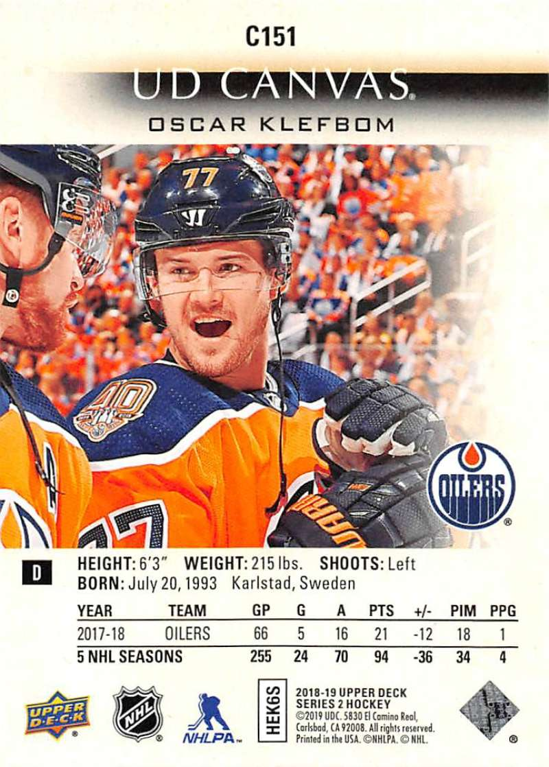 2018-19-Upper-Deck-CANVAS-Hockey-Series-1-amp-2-Vets-Young-Guns-RC-Pick-Yer-Cards miniature 201