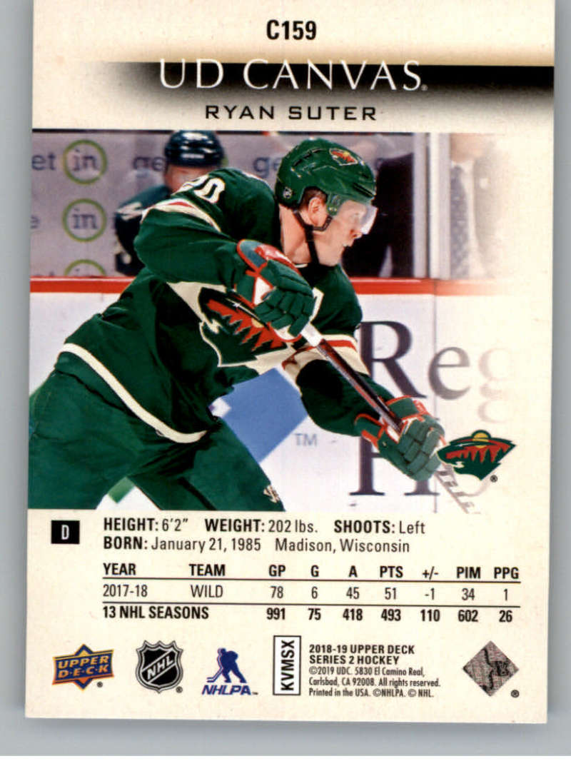 2018-19-Upper-Deck-CANVAS-Hockey-Series-1-amp-2-Vets-Young-Guns-RC-Pick-Yer-Cards miniature 217