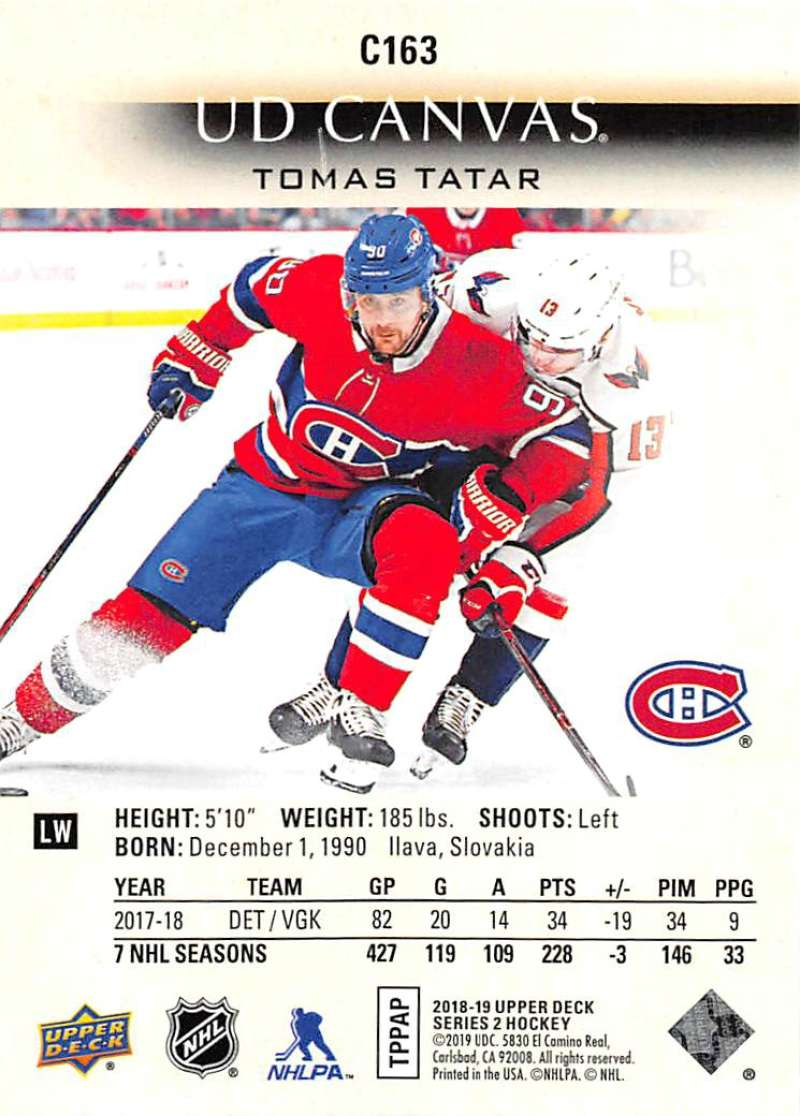 2018-19-Upper-Deck-CANVAS-Hockey-Series-1-amp-2-Vets-Young-Guns-RC-Pick-Yer-Cards miniature 223