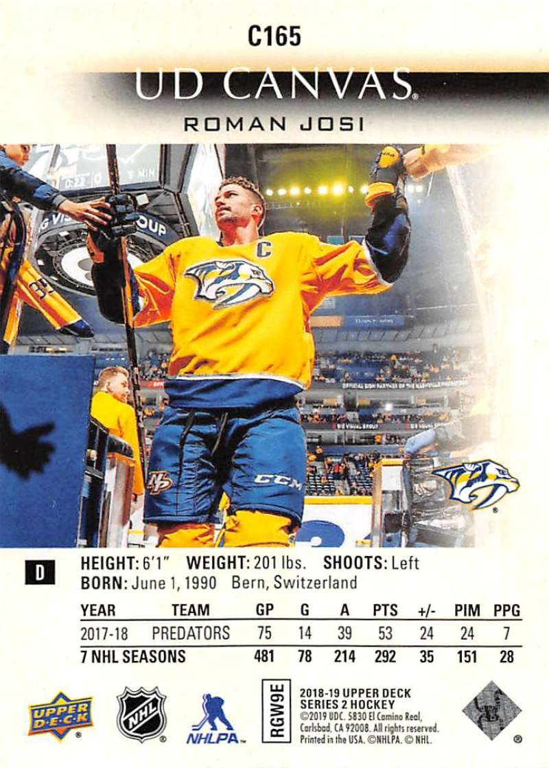 2018-19-Upper-Deck-CANVAS-Hockey-Series-1-amp-2-Vets-Young-Guns-RC-Pick-Yer-Cards miniature 227