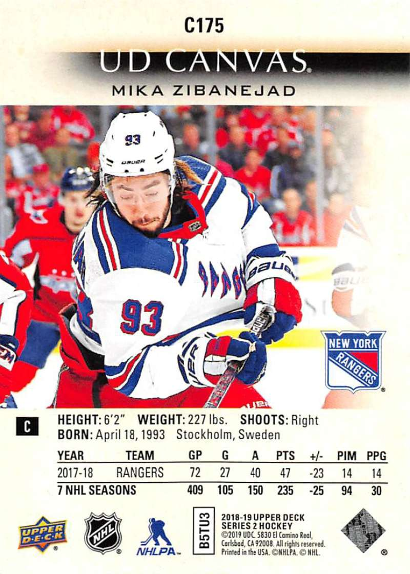 2018-19-Upper-Deck-CANVAS-Hockey-Series-1-amp-2-Vets-Young-Guns-RC-Pick-Yer-Cards miniature 241