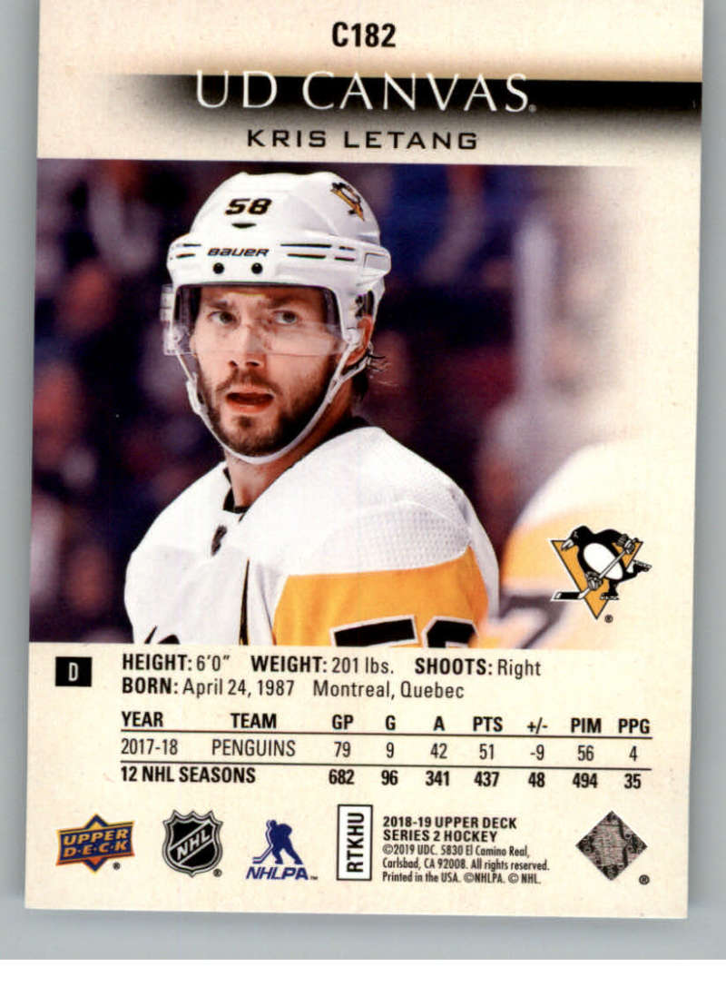 2018-19-Upper-Deck-CANVAS-Hockey-Series-1-amp-2-Vets-Young-Guns-RC-Pick-Yer-Cards miniature 249