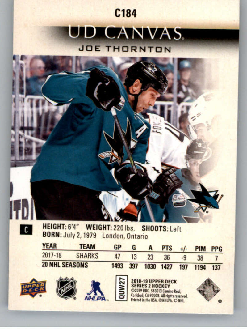 2018-19-Upper-Deck-CANVAS-Hockey-Series-1-amp-2-Vets-Young-Guns-RC-Pick-Yer-Cards miniature 253