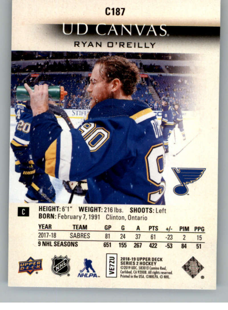 2018-19-Upper-Deck-Series-2-Canvas-Young-Guns-Rookie-RC-Hockey-Cards-You-Pick miniature 25