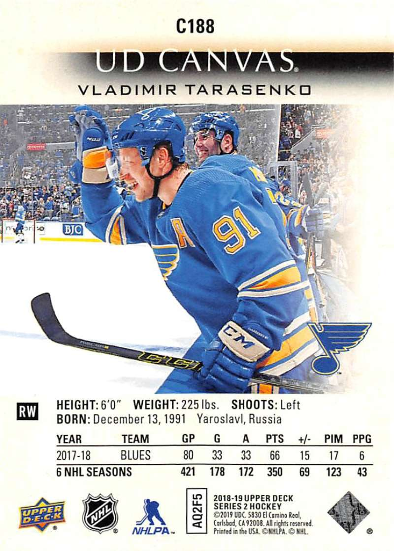 2018-19-Upper-Deck-CANVAS-Hockey-Series-1-amp-2-Vets-Young-Guns-RC-Pick-Yer-Cards miniature 259
