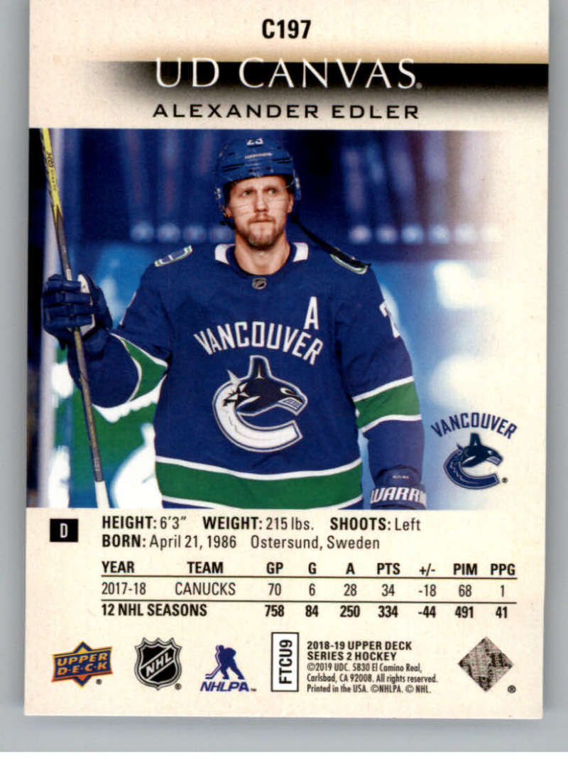 2018-19-Upper-Deck-CANVAS-Hockey-Series-1-amp-2-Vets-Young-Guns-RC-Pick-Yer-Cards miniature 271