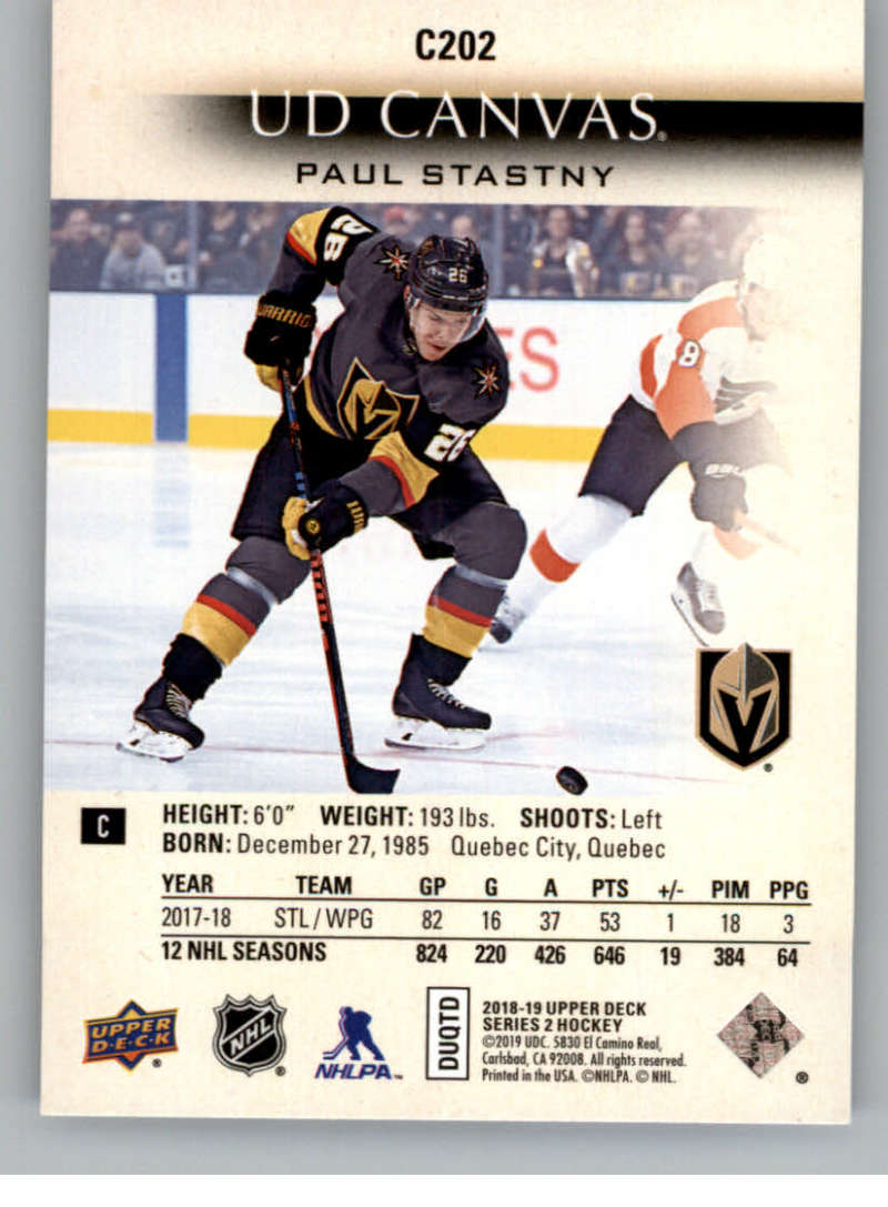 2018-19-Upper-Deck-CANVAS-Hockey-Series-1-amp-2-Vets-Young-Guns-RC-Pick-Yer-Cards miniature 281