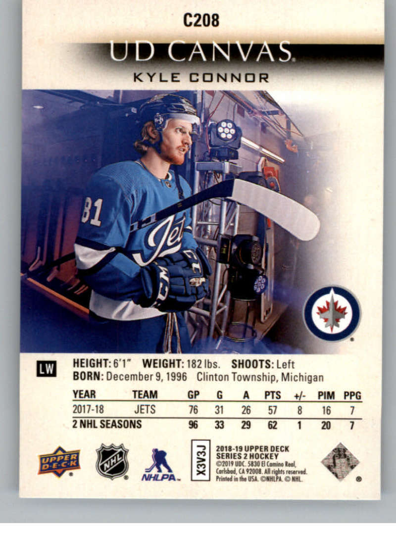 2018-19-Upper-Deck-CANVAS-Hockey-Series-1-amp-2-Vets-Young-Guns-RC-Pick-Yer-Cards miniature 289