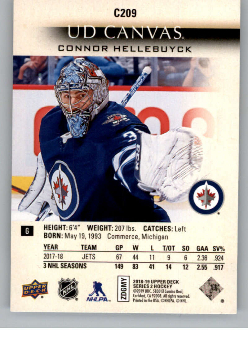 2018-19-Upper-Deck-CANVAS-Hockey-Series-1-amp-2-Vets-Young-Guns-RC-Pick-Yer-Cards miniature 291