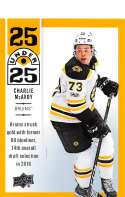 2018-19 Upper Deck 25 Under 25 Hockey #U25-24 Charlie McAvoy Boston Bruins Official NHL UD Trading Card