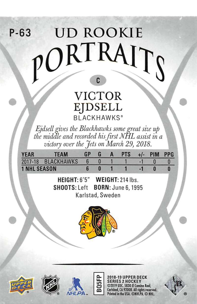 2018-19-Upper-Deck-UD-Rookie-Portraits-RC-Hockey-Cards-You-Pick miniature 7