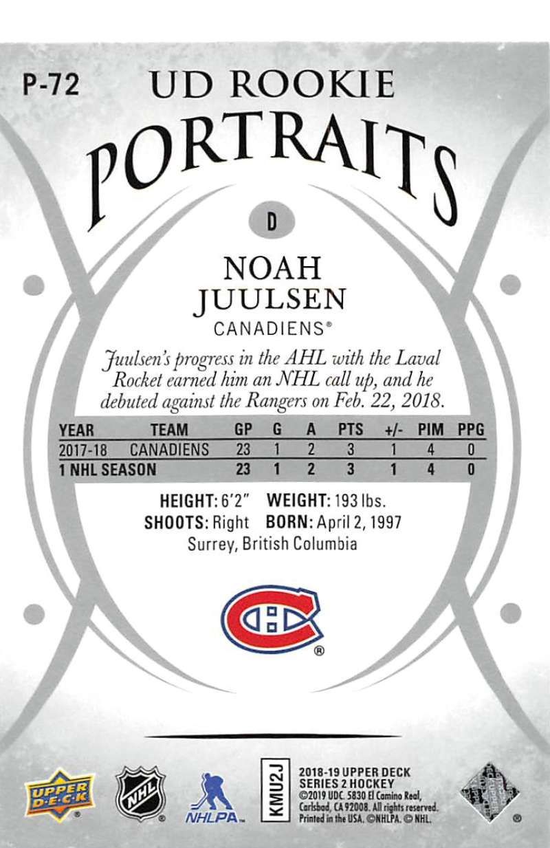 2018-19-Upper-Deck-UD-Rookie-Portraits-RC-Hockey-Cards-You-Pick miniature 13
