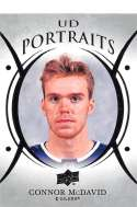 2018-19 Upper Deck Portraits Hockey #P-23 Connor McDavid Edmonton Oilers Official NHL UD Trading Card