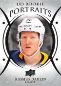 2018-19 Upper Deck Hockey UD Rookie Portraits #P-100 Rasmus Dahlin Buffalo Sabres Official NHL RC Card