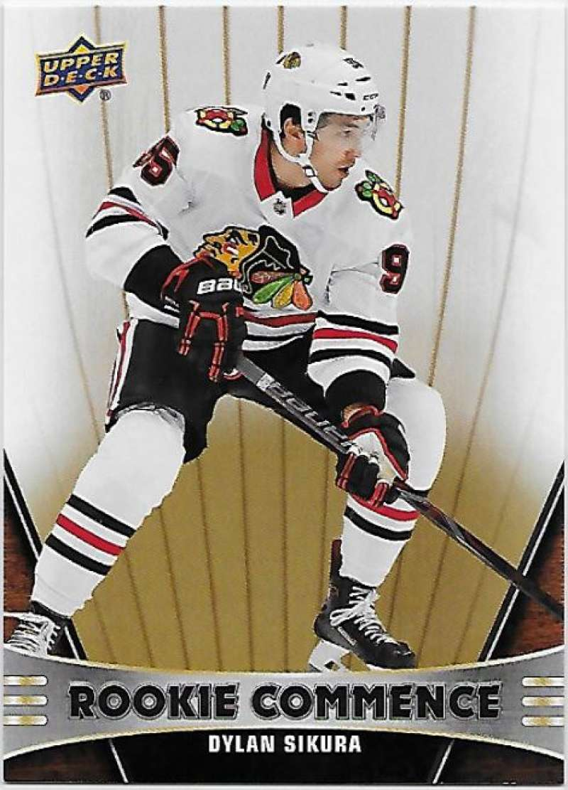 2018-19 Upper Deck Rookie Commence Hockey #RC-DS Dylan Sikura Chicago Blackhawks RC Official NHL UD Trading Card