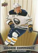 2018-19 Upper Deck Rookie Commence Hockey #RC-CM Casey Mittelstadt Buffalo Sabres RC Official NHL UD Trading Card