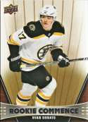 2018-19 Upper Deck Rookie Commence Hockey #RC-DO Ryan Donato Boston Bruins RC Official NHL UD Trading Card
