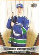 2018-19 Upper Deck Rookie Commence Hockey #RC-EP Elias Pettersson Vancouver Canucks RC Official NHL UD Trading Card