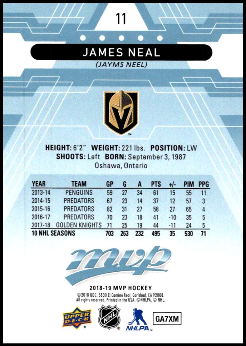 2018-19-Upper-Deck-MVP-Blue-Factory-Set-Parallels-Pick-From-List-With-Rookies miniature 23