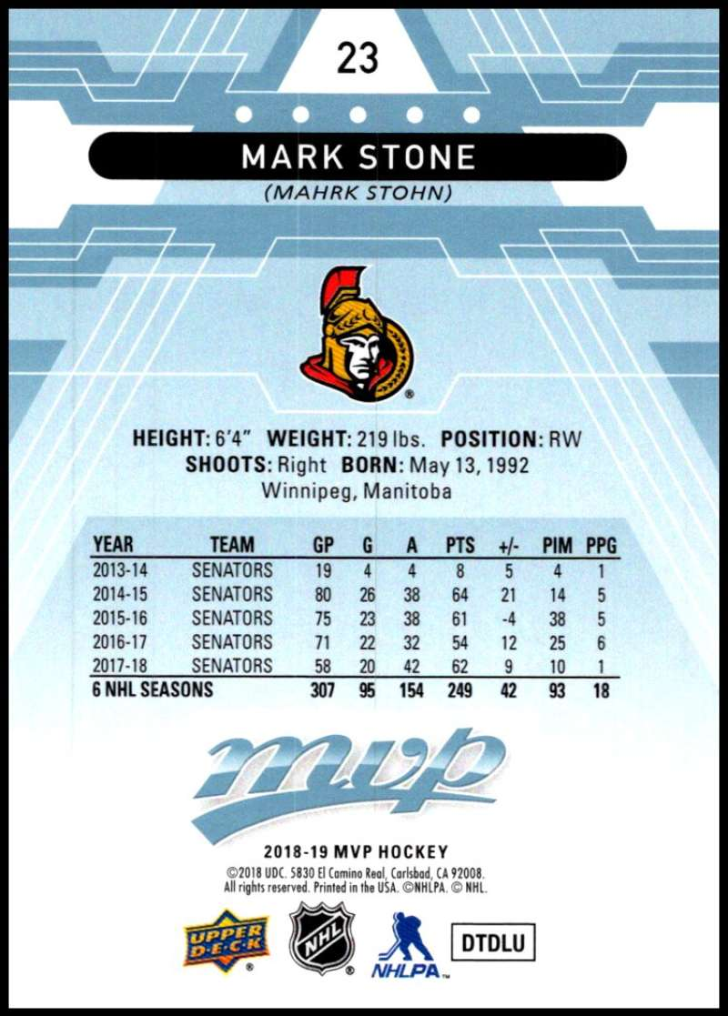 2018-19-Upper-Deck-MVP-Blue-Factory-Set-Parallels-Pick-From-List-With-Rookies miniature 47