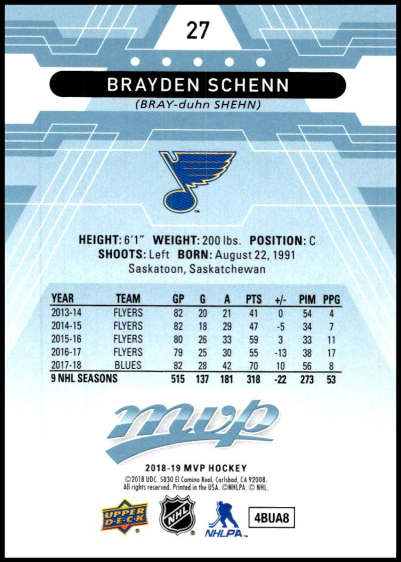 2018-19-Upper-Deck-MVP-Blue-Factory-Set-Parallels-Pick-From-List-With-Rookies miniature 55