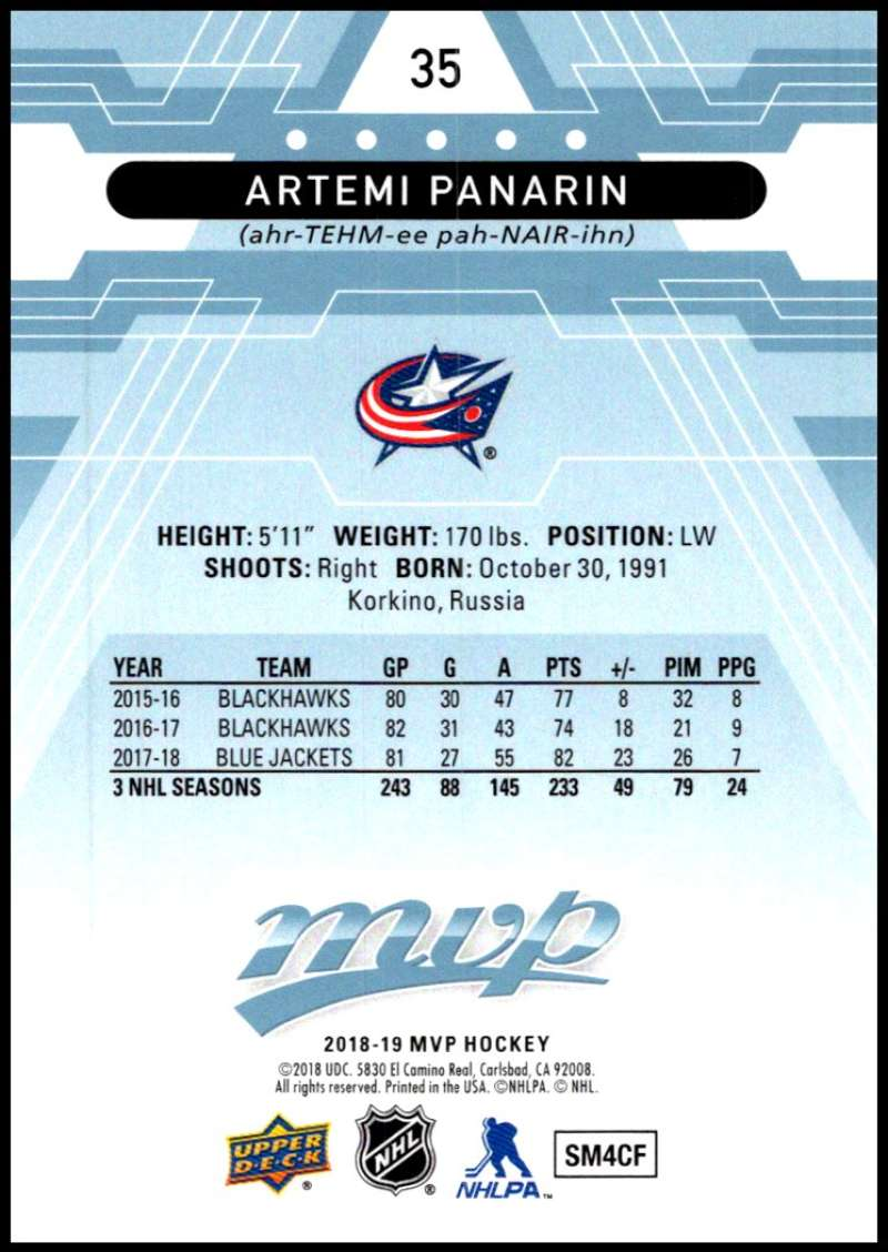 2018-19-Upper-Deck-MVP-Blue-Factory-Set-Parallels-Pick-From-List-With-Rookies miniature 71