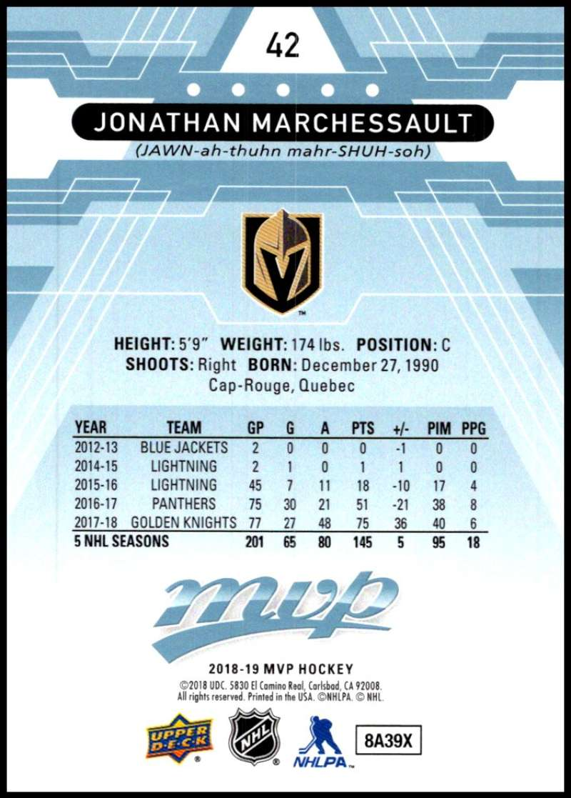 2018-19-Upper-Deck-MVP-Blue-Factory-Set-Parallels-Pick-From-List-With-Rookies miniature 85