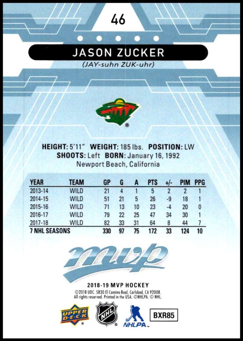 2018-19-Upper-Deck-MVP-Blue-Factory-Set-Parallels-Pick-From-List-With-Rookies miniature 93