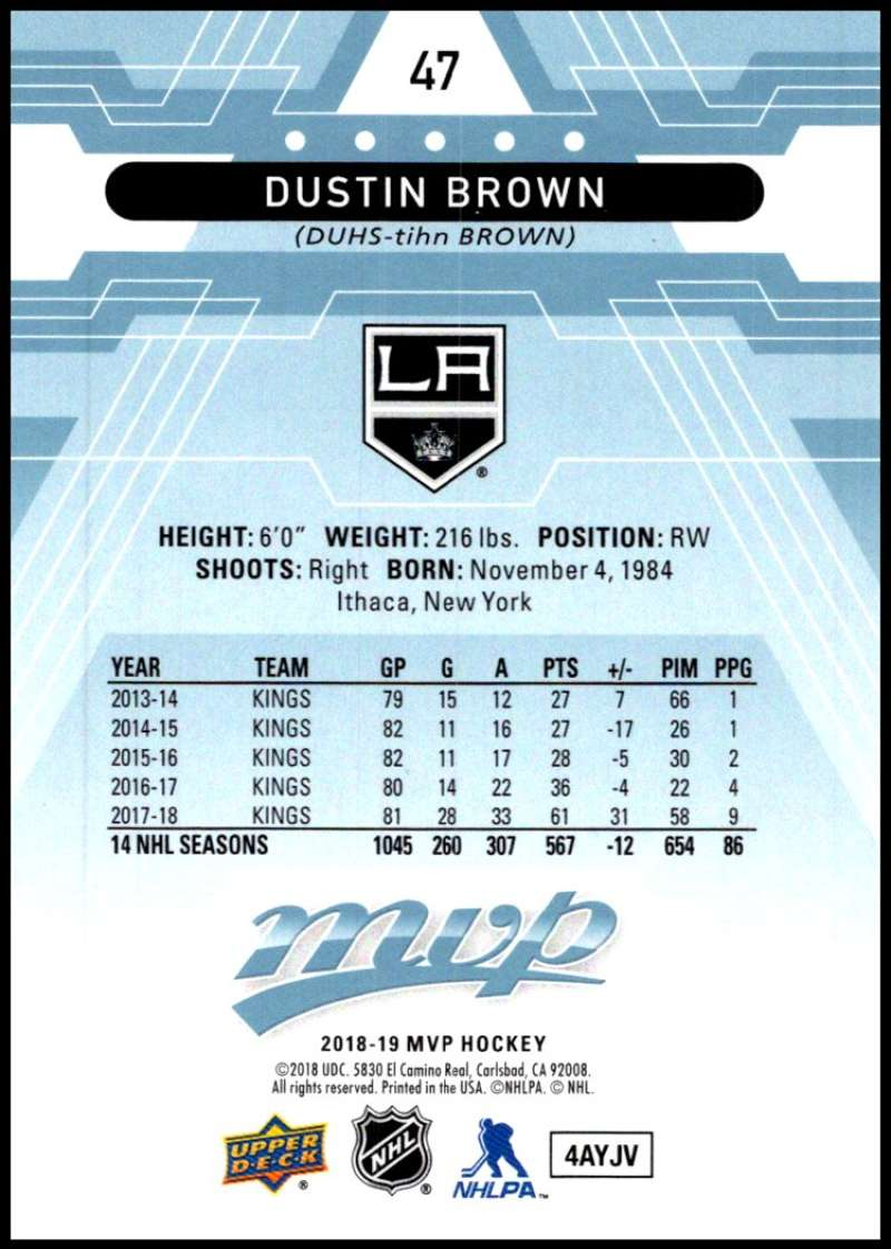 2018-19-Upper-Deck-MVP-Blue-Factory-Set-Parallels-Pick-From-List-With-Rookies miniature 95