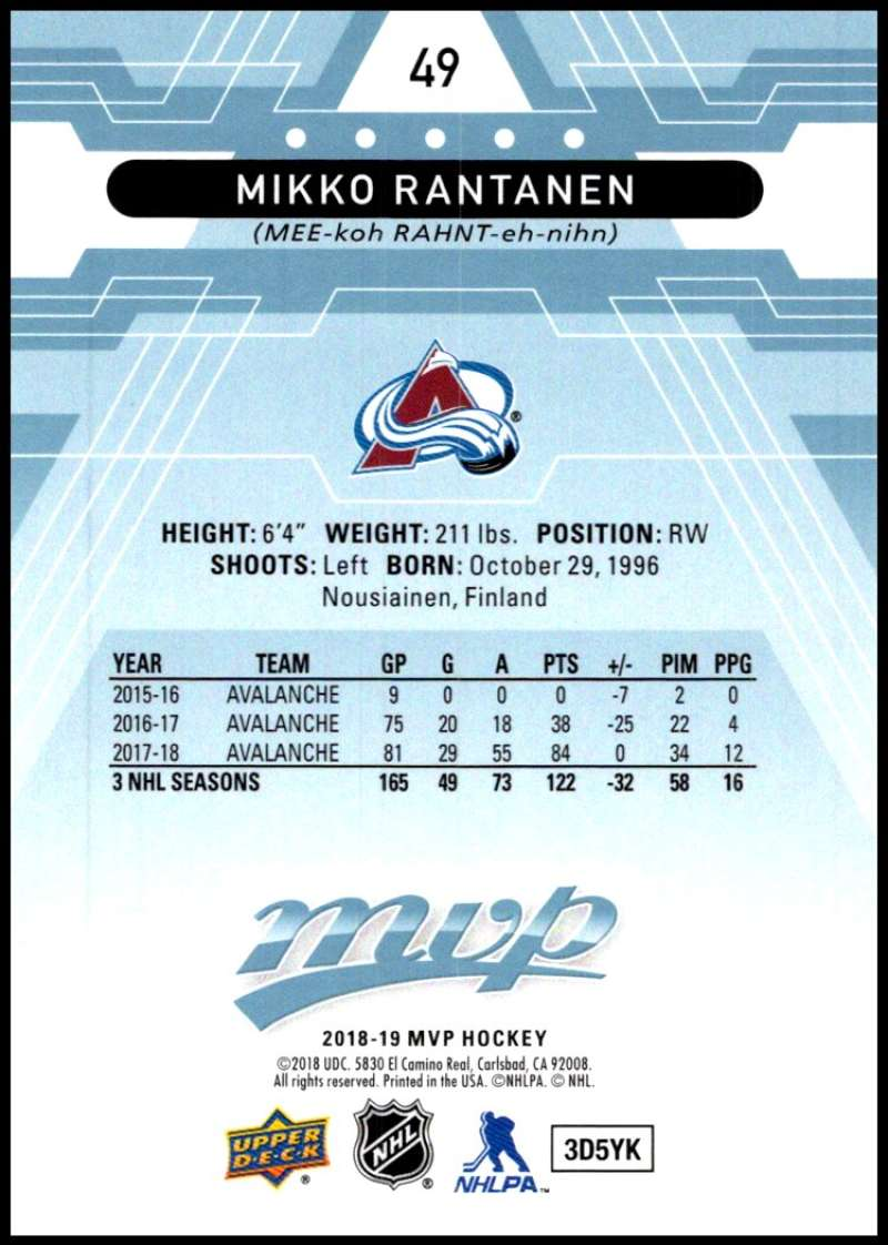 2018-19-Upper-Deck-MVP-Blue-Factory-Set-Parallels-Pick-From-List-With-Rookies miniature 99