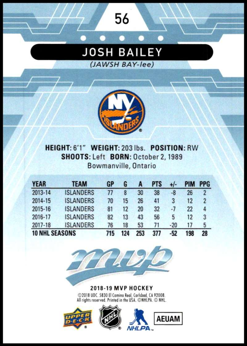2018-19-Upper-Deck-MVP-Blue-Factory-Set-Parallels-Pick-From-List-With-Rookies miniature 113