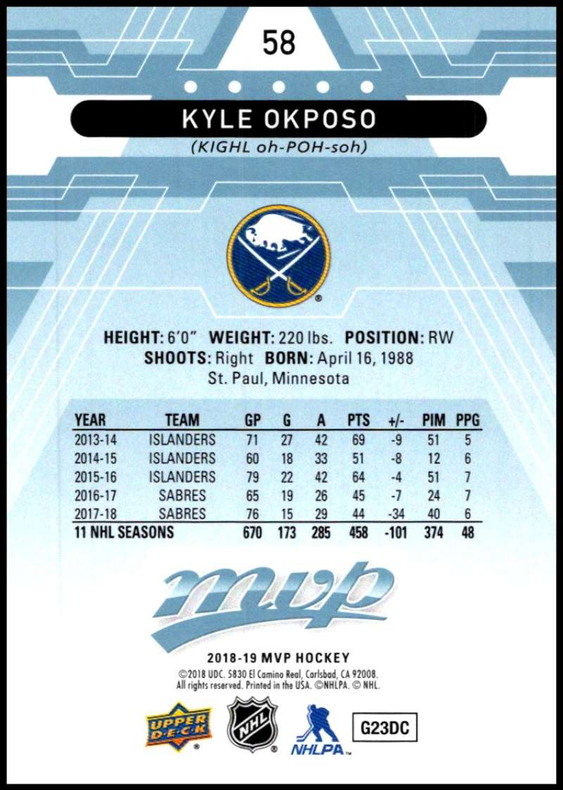 2018-19-Upper-Deck-MVP-Blue-Factory-Set-Parallels-Pick-From-List-With-Rookies miniature 117