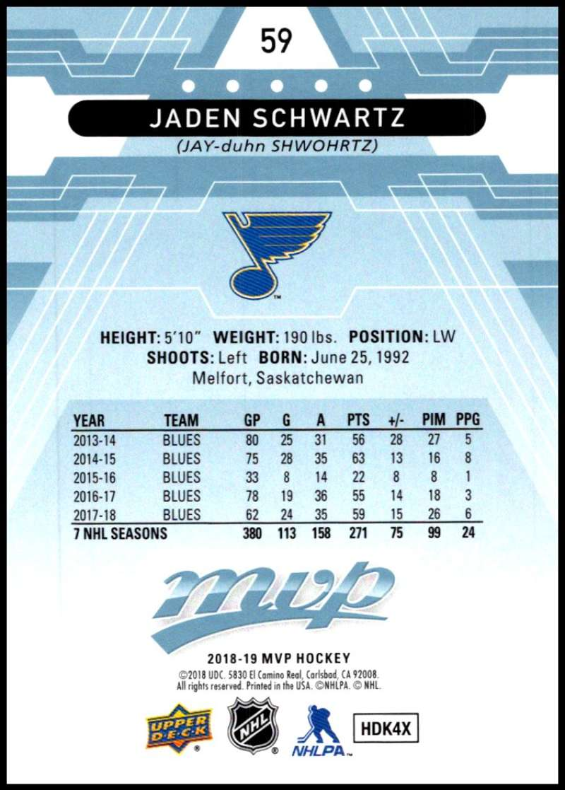 2018-19-Upper-Deck-MVP-Blue-Factory-Set-Parallels-Pick-From-List-With-Rookies miniature 119