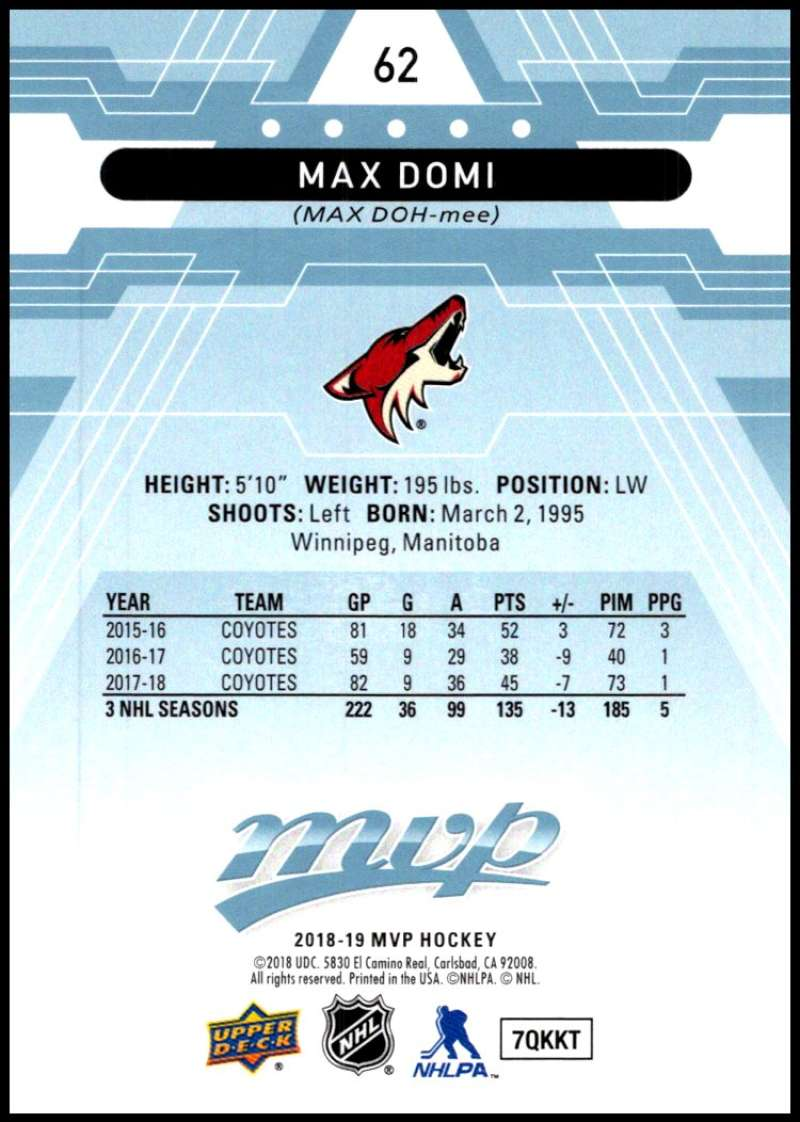 2018-19-Upper-Deck-MVP-Blue-Factory-Set-Parallels-Pick-From-List-With-Rookies miniature 125
