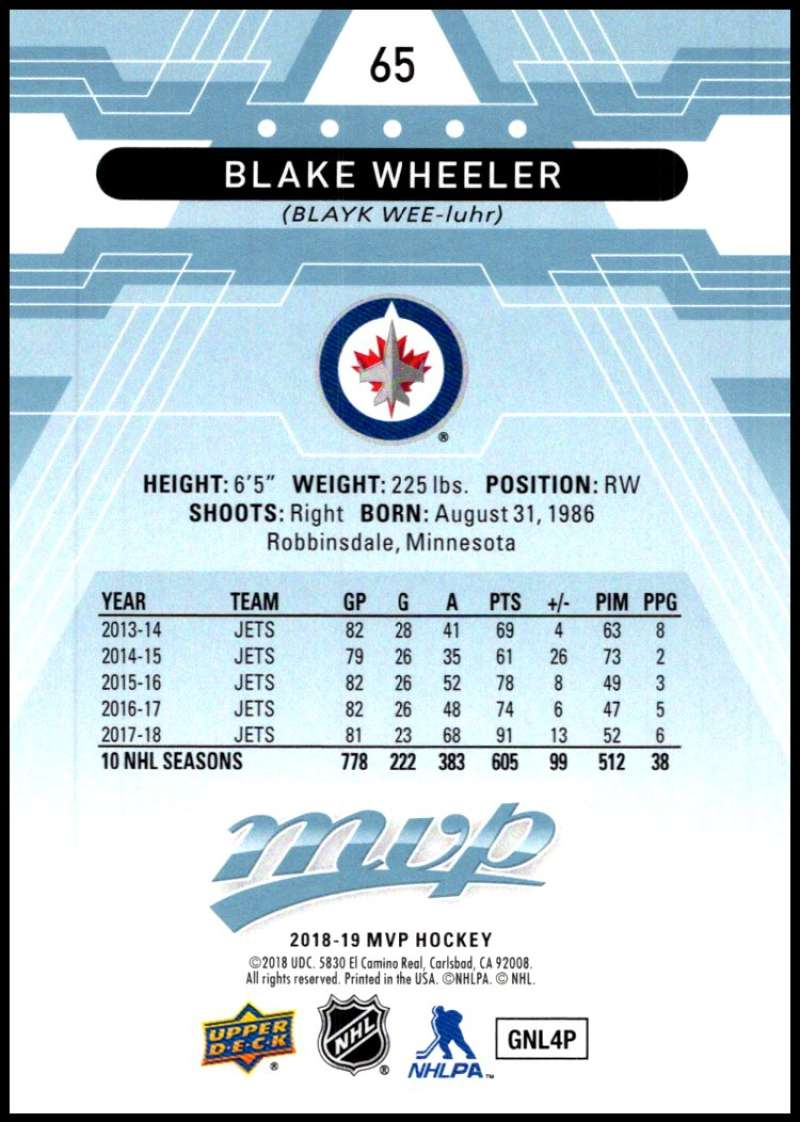 2018-19-Upper-Deck-MVP-Blue-Factory-Set-Parallels-Pick-From-List-With-Rookies miniature 131