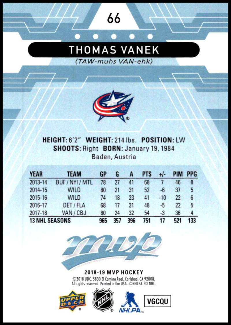 2018-19-Upper-Deck-MVP-Blue-Factory-Set-Parallels-Pick-From-List-With-Rookies miniature 133