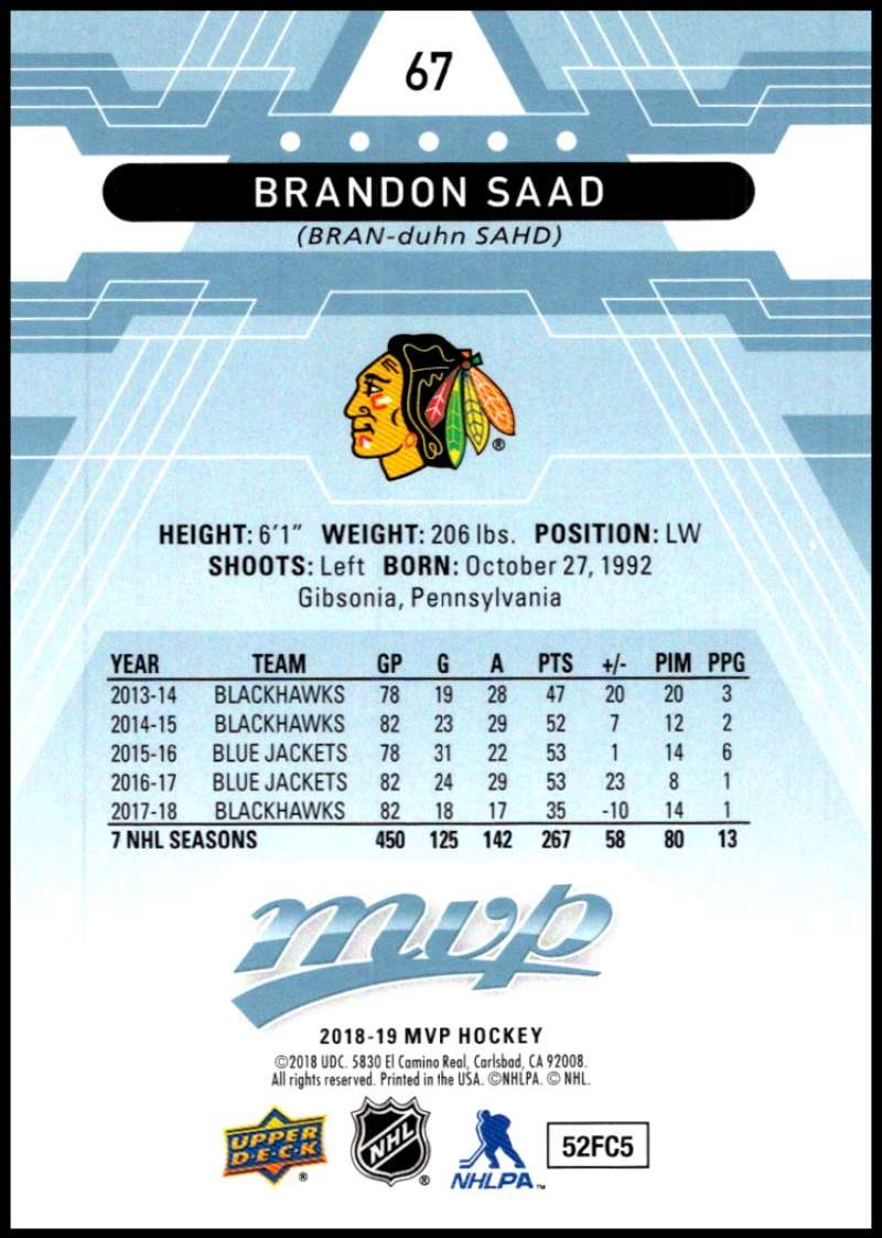 2018-19-Upper-Deck-MVP-Blue-Factory-Set-Parallels-Pick-From-List-With-Rookies miniature 135