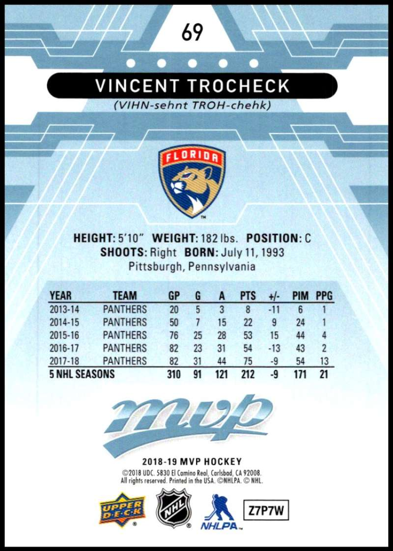 2018-19-Upper-Deck-MVP-Blue-Factory-Set-Parallels-Pick-From-List-With-Rookies miniature 139