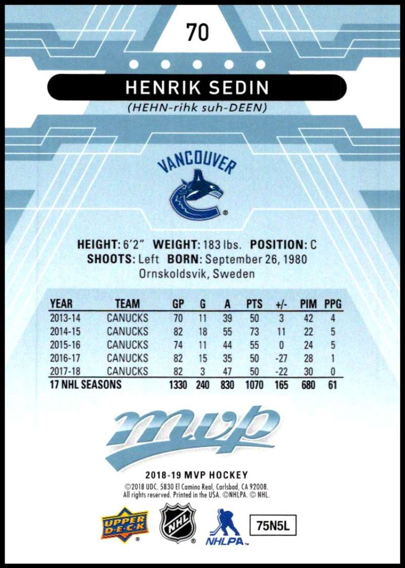 2018-19-Upper-Deck-MVP-Blue-Factory-Set-Parallels-Pick-From-List-With-Rookies miniature 141