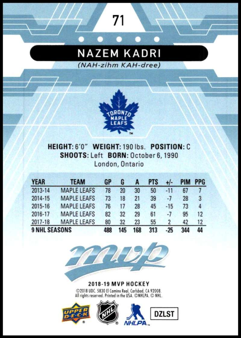 2018-19-Upper-Deck-MVP-Blue-Factory-Set-Parallels-Pick-From-List-With-Rookies miniature 143
