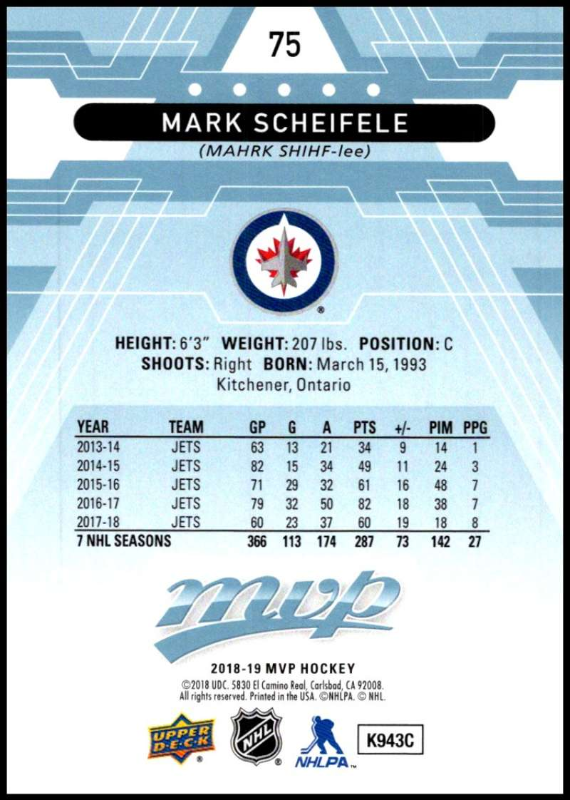 2018-19-Upper-Deck-MVP-Blue-Factory-Set-Parallels-Pick-From-List-With-Rookies miniature 151