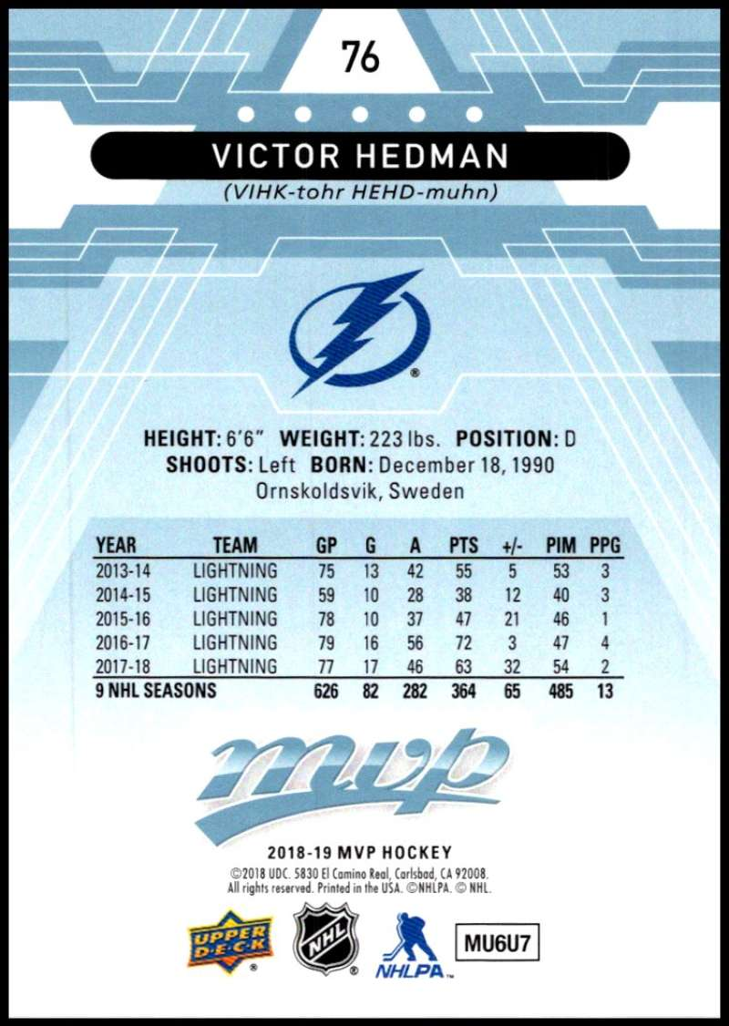2018-19-Upper-Deck-MVP-Blue-Factory-Set-Parallels-Pick-From-List-With-Rookies miniature 153
