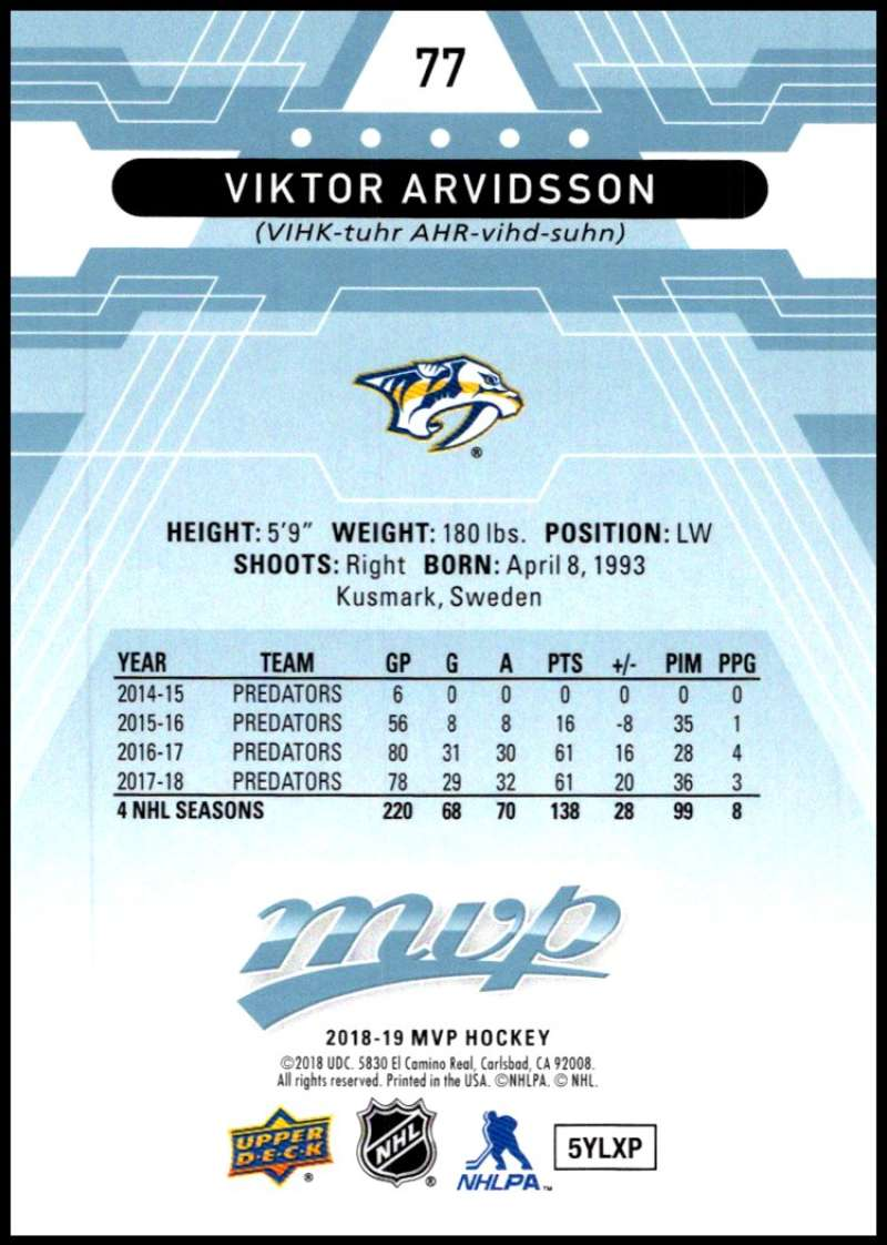 2018-19-Upper-Deck-MVP-Blue-Factory-Set-Parallels-Pick-From-List-With-Rookies miniature 155
