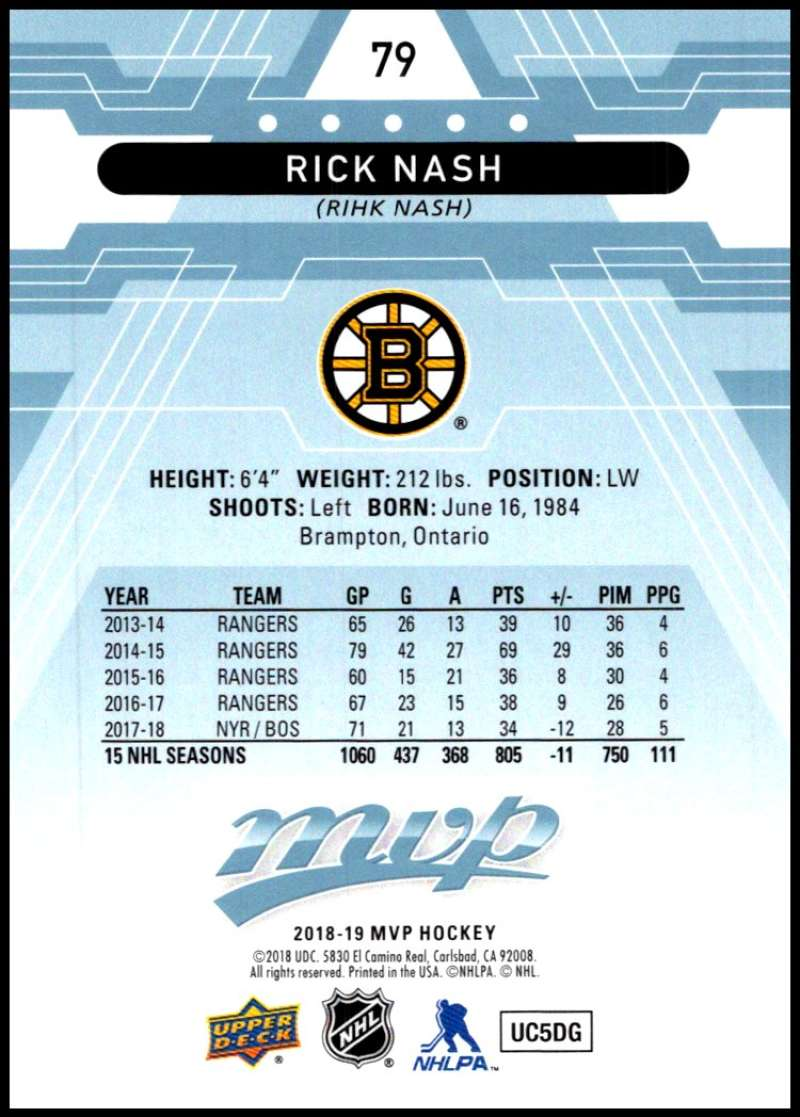 2018-19-Upper-Deck-MVP-Blue-Factory-Set-Parallels-Pick-From-List-With-Rookies miniature 159